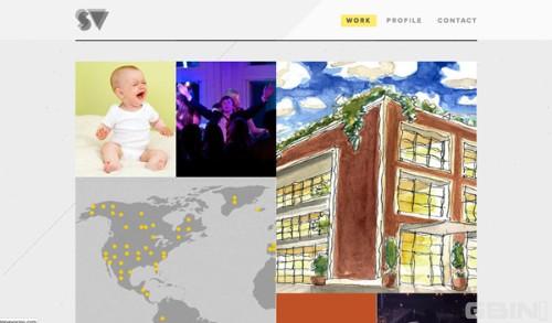 创意味儿十足的web布局及交互设计